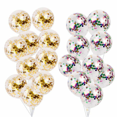 """5X 12"""" Confetti Filled Happy Birthday Party Events Helium Wedding Decor Balloons"""