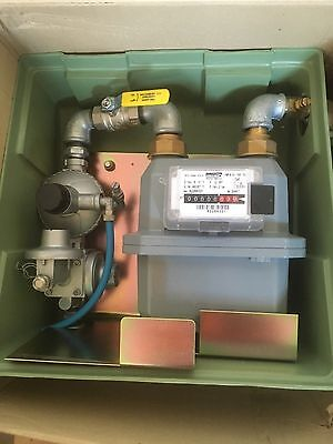 LPG gas meter and box