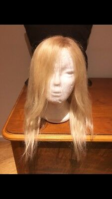 """100% Human Hair Full Lace Wig Blonde 16"""""""