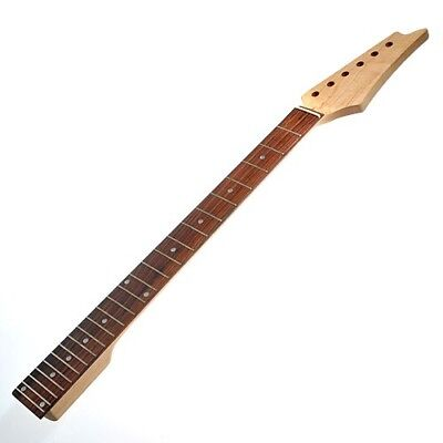 Electric Guitar Neck for Maple Square Heel Rosewood Fretboard 24 Fret