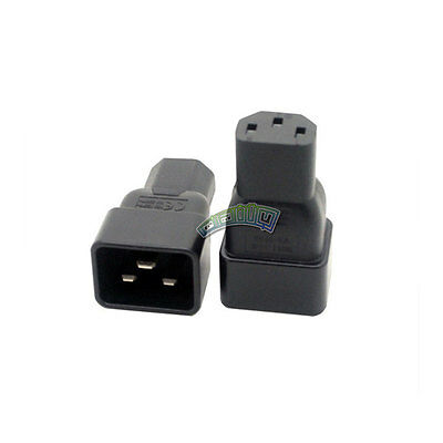 IEC Female C13 to C20 Male Connector Mains Power Adaptor - 10A - Plug / Socket