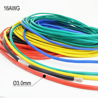5Meter 16AWG Flexible Soft Silicone Wire Tin Copper RC Electronic Cable 5Color