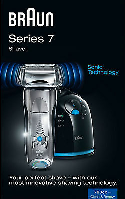 Braun Series 7 790cc-4 Mens Electric Shaver With Clean & Renew System