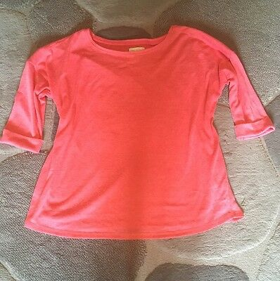 Size 12 Slouch Next Maternity Jumper Salmon/coral