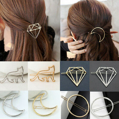 Fashion Women Hair pin Gold/Silver Geometry Hair Hairpin Clip Hair Accessories