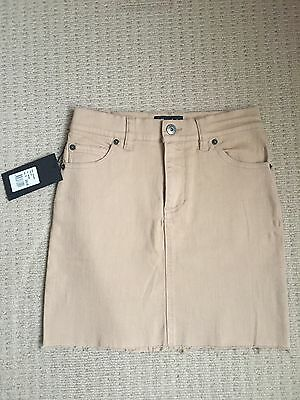 BNWT Bardot Mini Denim Skirt - Beige - Size 6