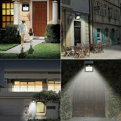 Solar Wall Lights 20 LED PIR Motion Sensor Outdoor Garden Lamps Security Light