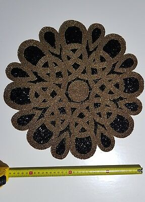 Morrocon style beaded placement mat