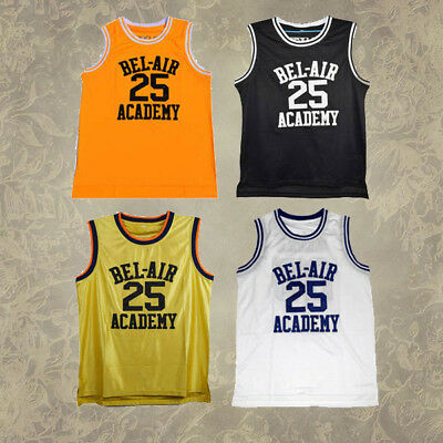Men #25 The Fresh Prince of Bel-Air Academy Carlton Banks Basketball Jersey