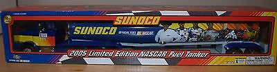 "Nib Sunoco 2005 Limited Edition 16"" Nascar Fuel Tanker Truck, Pumps & Gas Cans"