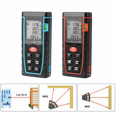 100M Laser Distance Meter Portable Handheld Range Finder Measure  LCD