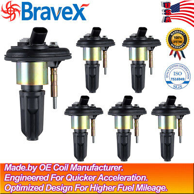 6 Pack Ignition Coils for 2004 - 2006 Chevy Trailblazer GMC Canyon Envoy UF-303