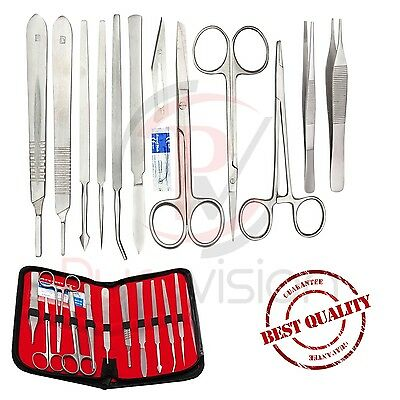 Prof.12 Pcs Surgical Anatomy SET Instruments Basic MEDICAL DISSECTING KIT NEW ce