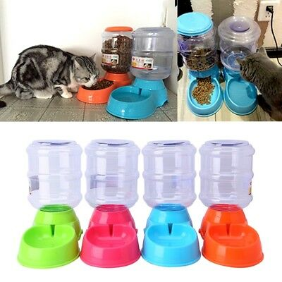 Large Automatic Pet Water Dispenser Feeder Bowl Dish 3.5L For Pets Cat Dog Puppy