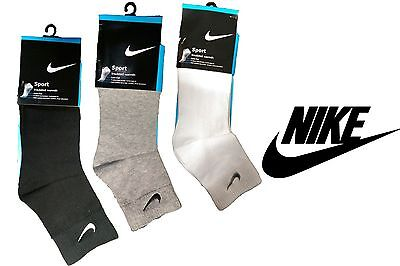 Brand New Nike Trainer Medium Socks Men's Women's Cotton White Black Grey