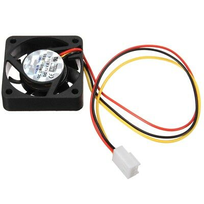 40mm PC Fan Silent Cooling Heat Computer Case 12V 3 Pin Wire Mini Black