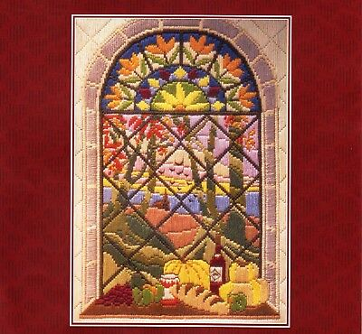AUTUMN THROUGH THE WINDOW TAPESTRY CANVAS LONG STITCH KIT by ANCHOR, NEW