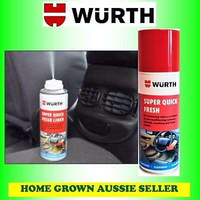Wurth Super Quick Fresh- Linen-Deodoriser Bomb, Ac Duct Treatment Free Post