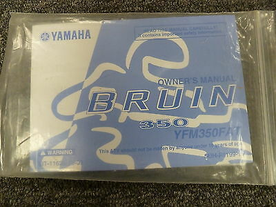 Yamaha Model YFM350FAT Bruin 350 ATV Owner Owner's Manual User Guide Book