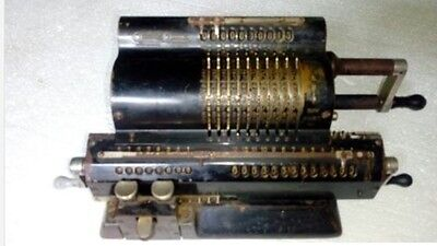 Antique Pin Wheel Swedish Mechanical Calculator Original Odhner M 602 No.5