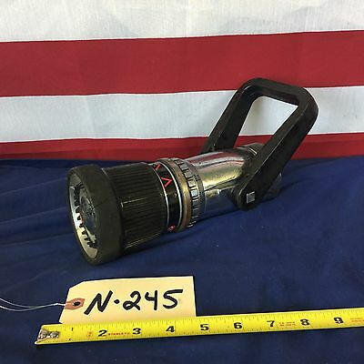 "Akron Brass TurboJet Style 1729 1 1/2"" NH/NST Adjustable GPM Fire Hose Nozzle"