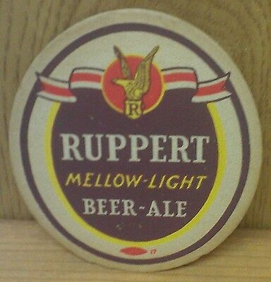 Ruppert Beer - Ale ~ Beer Coaster ~ Mellow Light ~ From Old Collection ~ Vintage