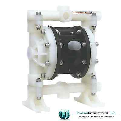 "PII 3/4"", 1/2"" NPT Double Diaphragm Pump, Air Operated 150 F"