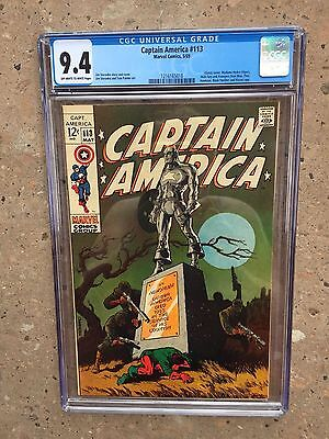 Captain America 113 !! Cgc 9.4 !! Awesome Key !! Great Investment !!