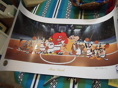 Robert McKimson NBA Looney Tunes Basketball Serilothograph Limited Ed and Signed