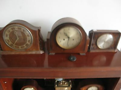 X3  Antique /  Vintage Clocks Smiths  Chiming 8 day Two Electric Spares Repairs
