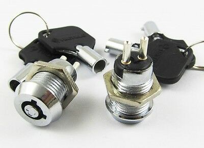 1x ON/OFF Key Ignition Switch Metal Lock Switch Plastic handle 10.5mmx19mm 506#