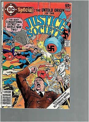 DC Special 29 Untold origin of the Justice Society Neal Adams cover VG