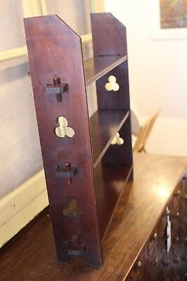 Gothic Revival Arts & Crafts Mahogany Bookshelf c 1890 / 1900