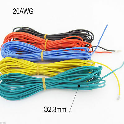 5meter 20AWG Flexible Soft Silicone Wire Tin Copper RC Electronic Cable 5colors