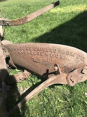 Syracuse Chilled Plow Antique 401 Model Horse Drawn Farming Plow