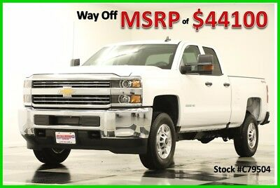 2017 Chevrolet Silverado 2500 MSRP$44100 4WD Camera White Double 4WD New 2500HD Bluetooth Mylink 6.0L V8 Bench Seats Ext Extended Cab 16 17 Bedliner