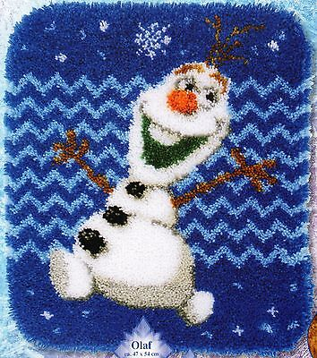 FROZEN OLAF SNOWMAN  LATCH HOOK RUG KIT by VERVACO, BRAND NEW