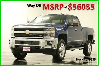 2017 Chevrolet Silverado 2500 HD MSRP$56055 4X4 LTZ GPS Z71 Blue Double 4WD New 2500HD Navigation Heated Cooled Leather Seats 17 Cab Camera Ext Extended 6.0