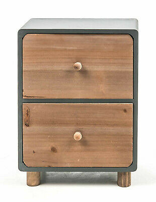 schubladenschrank mini kommode auf standfu schubladen kasten holz bunt shabby eur 16 39. Black Bedroom Furniture Sets. Home Design Ideas