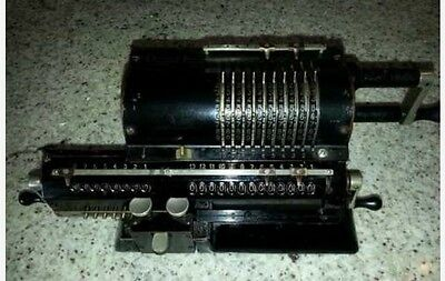 Antique Pin Wheel Swedish Mechanical Calculator Working Original Odhner Model 27