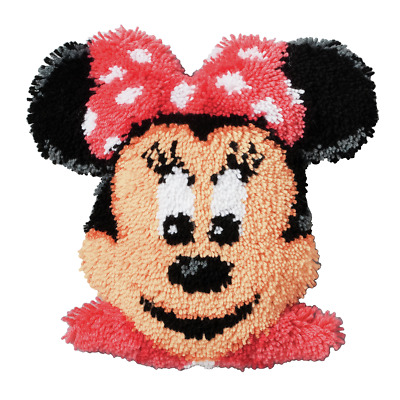 Vervaco - Latch Hook Cushion Front Kit - Minnie Mouse - PN-0014641