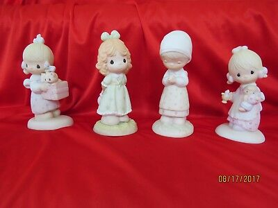 Lot of 4 Precious Moments Girl Figurines