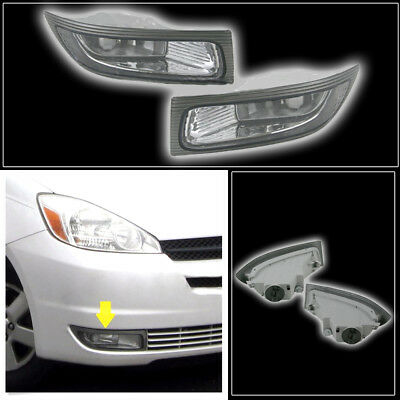 One Pair Left + Right +Front Fog Lamp Light for 2004 2005 TOYOTA SIENNA Car New