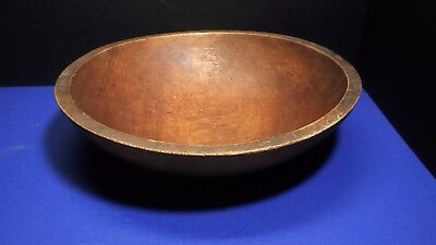 "Signed Munising Wooden Dough Bowl Out of Round oval 10 1/4"" by 11 3/8"""