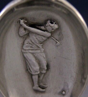 English Sterling Silver Golfing Spoon 1929 Art Deco Sporting Antique