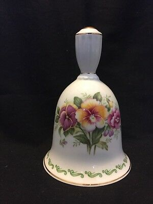 Queen's Rosina China Fine Bone China Bell Pansy Gold Trim England