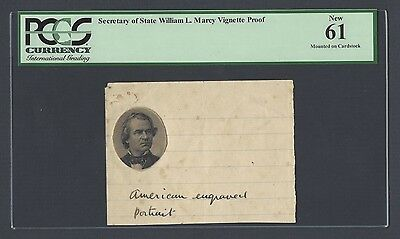 United State , Secretary of State William L. Marcy Vignette Proof Uncirculated