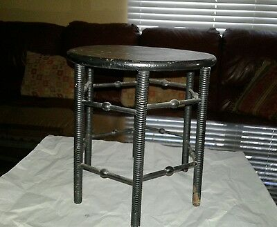 Antique Black Spindle Plant Stand Stool