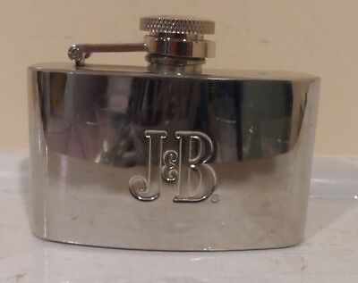 J B Metal Limited Blended Scotch and Whiskey Pocket Flask
