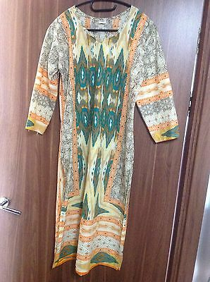 Kurta Indian Pakistani Asian Long Top Suit Kaftan Cotton Kurtas New Size 12 Uk